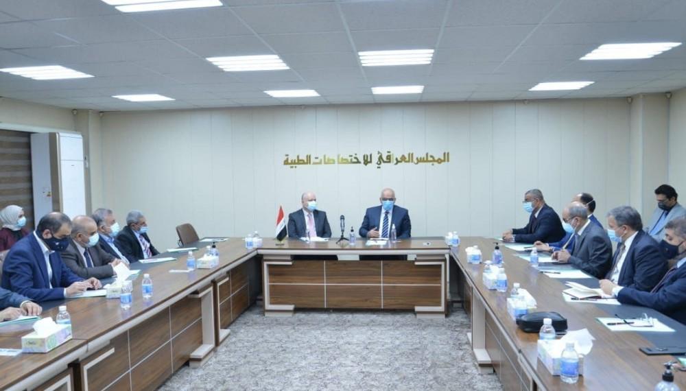 تشرف المجلس العراقي للاختصاصات الطبية بزيارة معالي وزير التعليم العالي الاستاذ الدكتور نبيل كاظم عبد الصاحب يوم الخميس 25/3/2021