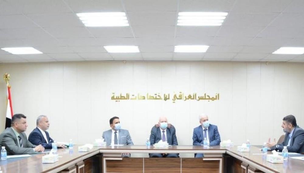 المجلس العراقي للاختصاصات الطبيه يستقبل وفد جامعة العلوم التطبيقيه الاردني