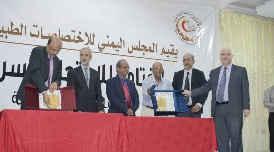 السيد رئيس المجلس العراقي للاختصاصات الطبية ممثلا عن العراق في امتحانات المجلس العربي للاختصاصات الصحية